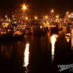 Władysławowo port nocą