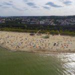 Władysławowo plaża z lotu ptaka